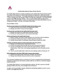 Health Baby Network seeks Project Director